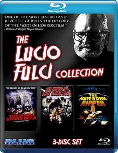 THE LUCIO FULCI COLLECTION: CITY OF THE LIVING DEAD / THE HOUSE BY THE CEMETERY / THE NEW YORK RIPPER BLUE UNDERGROUND BLU-RAY