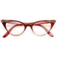 5e8a51daacc0 Vintage 1950 s Womens Cat Eye Clear Lens Glasses 8783
