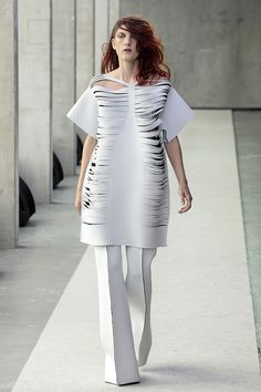 Jolka Wiens 2012- neoprene Hideous. Her. The outfit. What the hell is this?