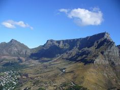 """Table Mountain & Devil's Peak, as seen from Lion's Head. From article: """"Cape Town from a Local's Perspective"""""""