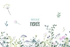 Rien de telle que la fraîcheur et la poésie des fleurs pour dire merci. #merci #mariage #carte #remerciement #fleurs