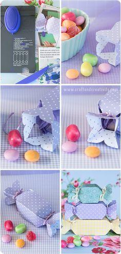 Utilizando la Candy Box Punch Board podrás crear de forma rápida unas cajitas preciosas!