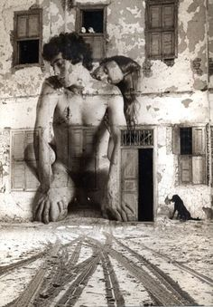 Artist: Itzhak Ben Arieh The road to intimacy or how to give a crumbling building a second life.