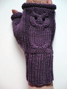 Hey, I found this really awesome Etsy listing at https://www.etsy.com/listing/171799763/owl-fingerless-mittens-cable-knit