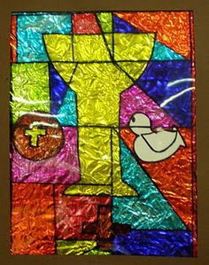 Stained glass technique - I have been wanting to do this with my kids since I made one in 5th grade!