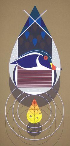 Best Dressed (Wood Duck) by Charley Harper