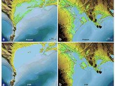 Nell'anno 2100 oltre 5.500 chilometri quadrati di coste italiane sott'acqua L'Italia tra meno di 100 anni sarà molto diversa da quella odierna, con fino a 5.500 chilometri quadrati di pianure costiere ormai sommersi a causa dell'innalzamento del mare di 28-60 centimetri e de #coste #mare #acqua