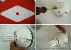 Papierne Wandlampe zum Selbermachen - perfekte Beleuchtung für den Flur