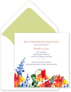 Watercolor Flower Invitations