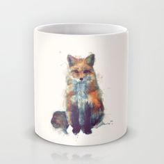 Fox Mug by Amy Hamilton | Society6 $15