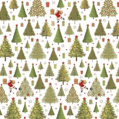 Festive Holiday Trees Gift Wrap | The Container Store