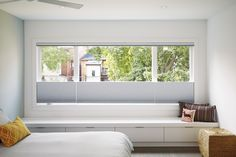 Window seat at Master Suite Photo 77 of 700 in Best Bedroom Photos from High Park. Modern Window Seat, Window Benches, High Windows, Modern Windows, Master Suite, Master Bedroom, Window Seat Storage, Bedroom Retreat, Bedroom Photos
