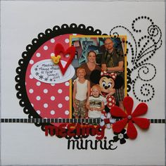 Disney scrapbook layout inspiration