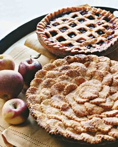 Spiced Apple Pie with Fluted Round Cutouts Recipe