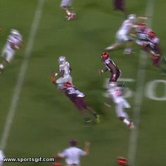 Ohio State Quarterback turned Wide Receiver Braxton Miller makes a crazy spin move on a touchdown.