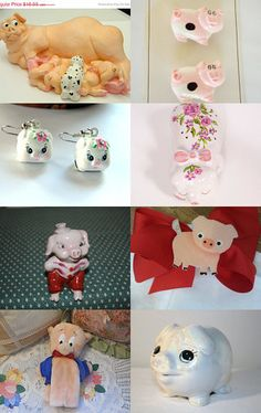 This little piggy.  TeamVintageusa by Tammy Hanson on Etsy--Pinned with TreasuryPin.com