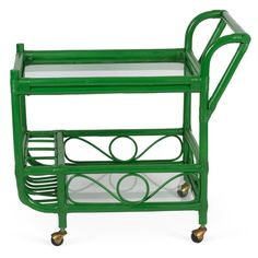 Image result for kelly green bar cart