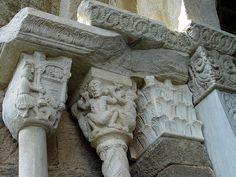 Zodiac staircase, Sacra di San Michele, Italy