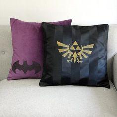 DIY Geek Home Decor: Geek Pillows! - Our Nerd Home