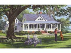Cottage House Plan with 2553 Square Feet and 4 Bedrooms from Dream Home Source | House Plan Code DHSW67493