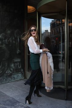Olivia Palermo via WWD Photo by Kuba Dabrowski