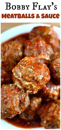 Bobby Flay's meatball (and sauce) recipe is a perfect combination of ingredients.- Bobby Flay's meatball (and sauce) recipe is a perfect combination of ingredients and flavors, this will be your new go-to meatball recipe! Sauce Recipes, Meat Recipes, Cooking Recipes, Wing Recipes, Recipes Dinner, Recipies, Barbecue Recipes, Meatloaf Recipes, Cooking Tips
