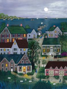 Janet Munro artwork Evening on Nantucket for sale and offering more original artworks in Painting Other medium and Americana theme. San Francisco Museums, Philadelphia Museum Of Art, Country Art, Naive Art, Your Paintings, Original Paintings, Museum Of Modern Art, Art Reproductions, Home Art
