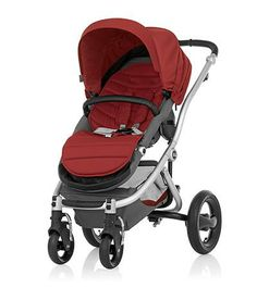 Affinity Stroller by Britax - Silver base frame with Red Pepper color pack - Britax USA
