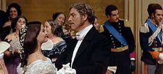 Il gattopardo ballo nella scena del film Claudia Cardinale e Burt Lancaster