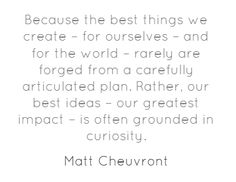 More Time Should Be Spent Exploring @MattChevy