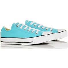 Converse Chuck Taylor All Star Low (205 SAR) ❤ liked on Polyvore featuring shoes, sneakers, converse, zapatos, blue, women, star shoes, lace up sneakers, converse trainers and laced up shoes