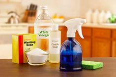 Homemade non-toxic cleaning formulas....aka how vinegar and baking soda can clean EVERYTHING