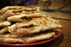 Turkish Gozleme with Lamb, Spinach and Feta