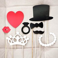 Photo Booth Props on a Stick - Assorted Party Booth Favor for All Events & Weddings - 8 Pieces NP http://www.amazon.com/dp/B00NX38WEW/ref=cm_sw_r_pi_dp_UwaSub15G08JX