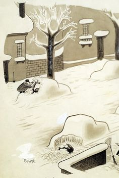 Jean-Jacques Sempe. I would say that this is not the Brilliance of winter!