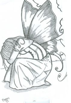 Pencil drawing of a fairy - there is no sweeter character to come out of fantasy than the fairy. Description from favload.com. I searched for this on bing.com/images