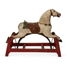 Check out this item at One Kings Lane! Antique Rocking-Horse Glider