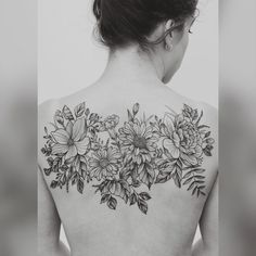 Floral tattoo by Jasper Andres - #flowers