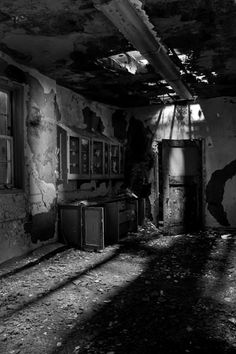 Shadows - Photo of the Abandoned Linton State Hospital