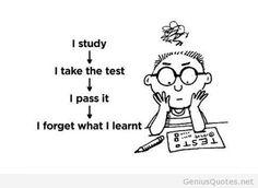 Funny study comic quote
