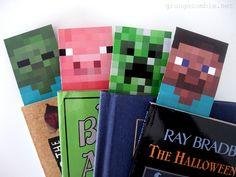 Printable Minecraft Bookmarks   Minecraft Valentines