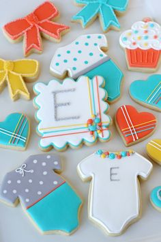 Modern Baby Cookies - by Glorious Treats