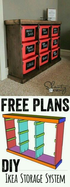 Free Plans DIY Storage Idea LOVE this for toys or anything! Cheap and easy too! The post Free Plans DIY Storage Idea LOVE this for toys or anything! Cheap and easy to appeared first on diy. Cheap Home Decor, Diy Home Decor, Ikea Storage, Bedroom Storage, Closet Storage, Garage Storage, Lego Storage, Craft Storage, Baby Storage