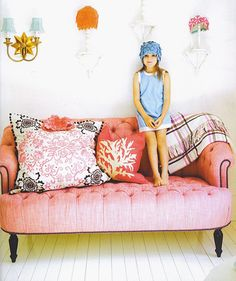 I will be covering a sofa like this at some point, except I'm thinking pink velvet :)