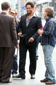 Gary Dourdan - GARY DOURDAN Filming His New Movie 'Fire' In Berlin