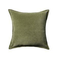 "Velvet Throw Pillow Cover (18""x18"") - Threshold™ | Dark Sage - See more at: https://www.decorist.com/finds/101289/velvet-throw-pillow-cover-18x18-thresholdtm-dark-sage/"