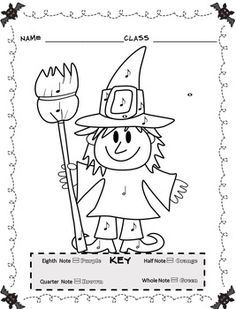 Music Coloring Sheets: 26 Summer Color by Music Pages
