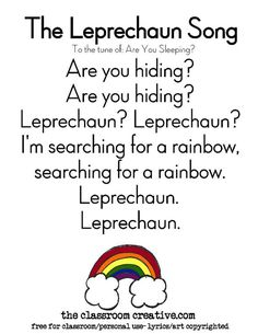 Leprechaun St Patrick's Day Craft for Kids – easy St Patrick's Day craft for preschool also! Informations About my ideas bullet journal Pin You … St Patricks Day Songs, St. Patricks Day, St Patricks Day Crafts For Kids, March Crafts, St Patrick's Day Crafts, Songs For Toddlers, Kids Songs, Baby Songs, San Patrick