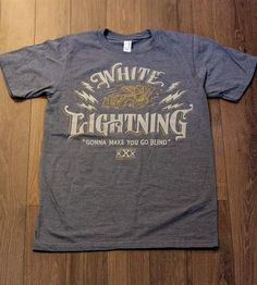 Men's White Lightning T-Shirt | Men's Clothing | Straw Castle | Scoutmob Shoppe | Product Detail