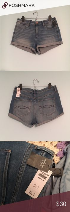 Abercrombie and Fitch high rise Jean shorts NWT. 2 inch inseam. Bought them for summer, never got around to wearing them. Abercrombie & Fitch Shorts Jean Shorts